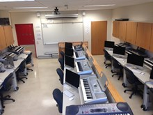 Computer Lab used for music technology courses
