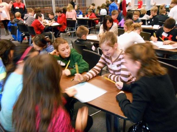 Students at Puzzle-lympics