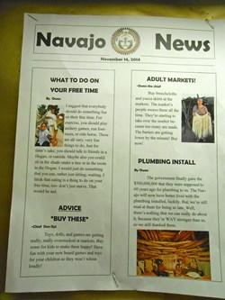 Imagined Native American newspaper