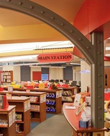 Inside of McIntyre Elementary Library