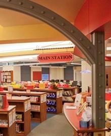 Inside of McIntyre Elementary Library