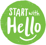 Start with hello logo