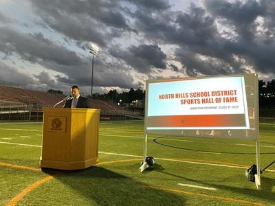 Sports Hall of Fame presentation at Martorelli Stadium