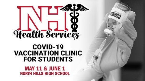 NH Health Service logo with vaccination clinic information